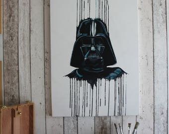 Star Wars Darth Vader Painting - Original one of a kind hand painted on canvas