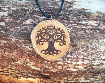 "Soul slices ""Tree of life 9"" wooden necklace vintage * Ethno * hippie * MUST have * statement * Boho *"