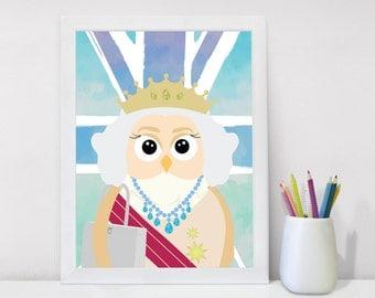 Baby Gift, Nursery Wall Art, Modern Nursery, Printable art, Nursery Art, Nursery Wall Decor, Queen of England, Baby Room, Nursery Decor