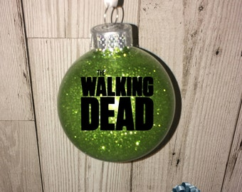 The Walking Dead Christmas bauble, The Walking Dead, Christmas Decoration, TWD, Glitter Bauble,