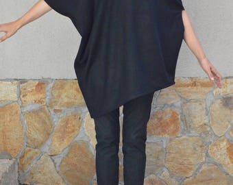 Wool Tunics/Maxi tunics/Loose tunics/Plus size/Long tunics/