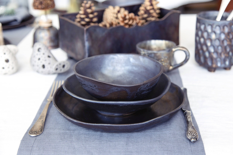 Ceramic Dinnerware Set Pottery Dinner Set Serving Dishes
