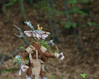 OOAK Forest Boggle Gatherer, fantasy art doll