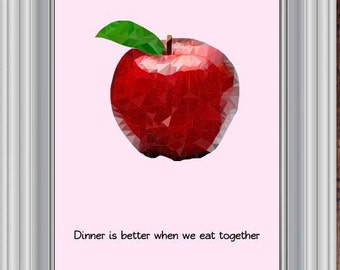 Kitchen prints Apple,Fruit Wall Print,Apple,Modern Kitchen Art,Apple Print,Pastel Wall Print,Kitchen Printable Decor,Kitchen Poster