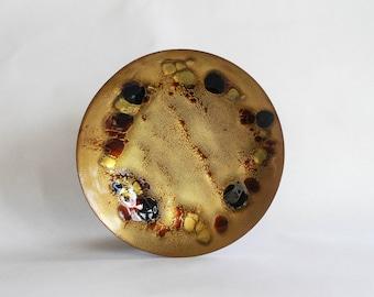 copper enamel gold art plate