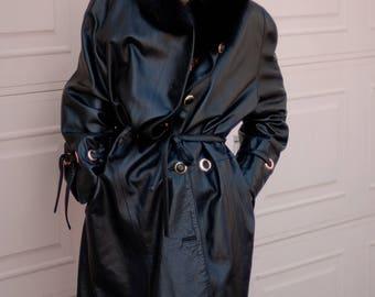 Vintage Lambskin Leather Coat