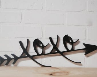 XOXO Arrow Wood Cut Out