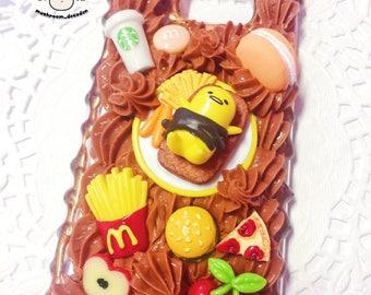 Samsung Galaxy Note 5 - Ready to Ship - Kawaii chocolate foodie Gudetama Lazy Egg yummy decoden case