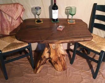Unique U0026 Custom Walnut Table With Aspen Tree Base
