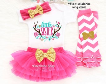 Little Sister Big Sister Outfits, Little Sister Oufit, Little Sister Bodysuit, Little Sister Coming Home Outfit, Little Sister Gift LS4HP