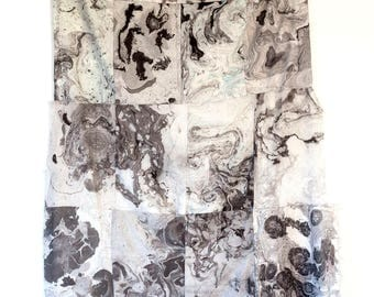 Black Grey White Marbled Wall Hanging