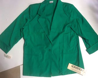 Vintage 80s Koret green blazer. New with tags. Size 14