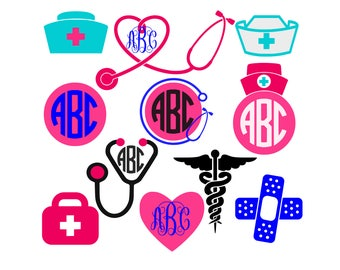 Stethoscope svg Nurse svg files rn svg Lpn DIY Heart Shaped stethoscope svg files for cricut svg for silhouette vector cut files svg dxf