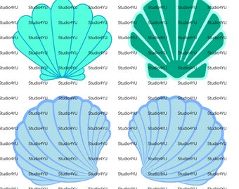 Mermaid Shell svg mermaid svg little mermaid svg sea shell svg files for cricut svg for silhouette vector cut files svg dxf
