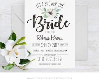 Printable Vintage Bridal Shower Invitation