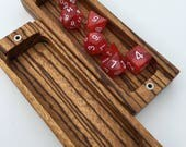 Dice Box Solid Wood Construction - Zebrawood