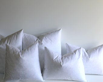 16 x 16 pillow insert decorative pillow form feather down throw pillow insert