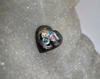 Labradorite, pink and blue 18,96 Gr-heart