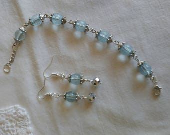 Ice Blue Bracelet & Earrings