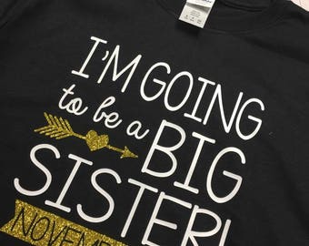 I'm going to be a big sister youth shirt