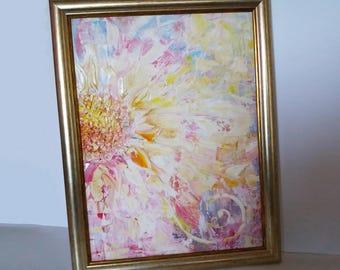 Original Painting, Oil Painting, Delicate Painting, Oil Painting Art, Framed Painting, Floral Wall Art, Flower Painting, Delicate Flower Art