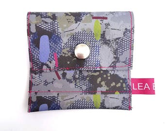 Travel Wallet / Coin Purse / Pass Holder - In Limited Edition 'Pixel Polly' print