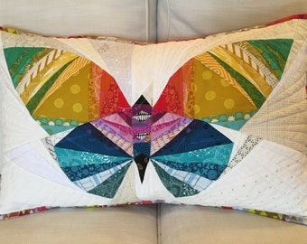 Take Wing Butterfly quilted sham