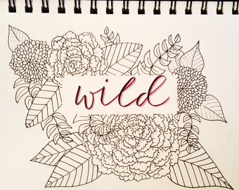 WILD - hand drawn florals