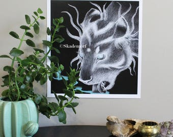 Ghost Lioness PRINT