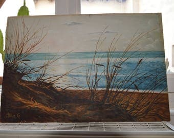 Seaside painting