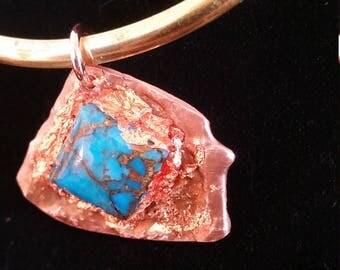 Turquoise / Copper / Pendant / Splash Copper