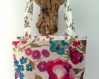 Floral print Tote Bag, shopping bag, beach bag