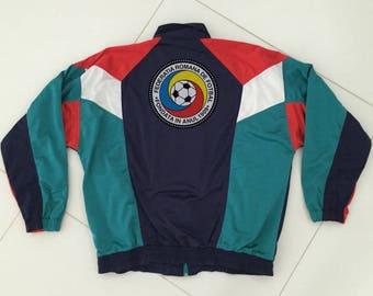 Vintage Track Jacket Romania Football Rucanor - Men Size XL
