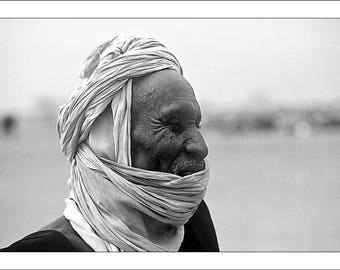 "Fine Art black and white 30 x 45 numbered signed ""Tuareg"""