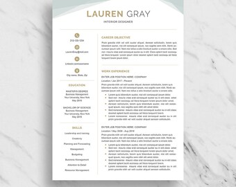 Creative Resume Template for Word | Modern Resume Design | CV Template for Word | 2 Page Resume Download | Professional Resume Template