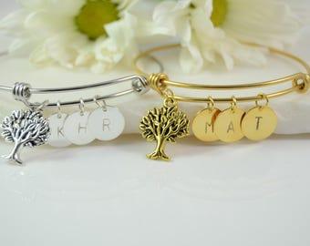 Mom Christmas Gift, Mom Bracelet, Mothers Bracelet, Mom Bracelet With Kids Initials, Mom Bracelet From Daughter, Mom Bracelet Personalized