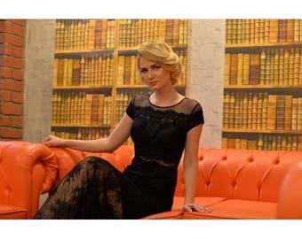 Romantic Black Evening Dress
