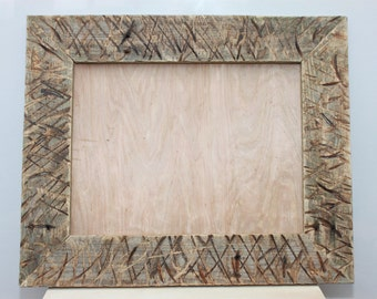 Distressed Reclaimed Wood Picture Frame, Rustic