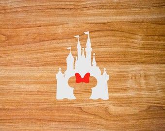 Free Shipping - Car Decal - Disney Castle Decal - Disney Car Decal - Laptop Sticker