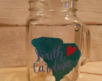 South Carolina Mason Jar