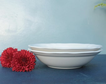 Set of Two Federalist Ironstone Bowls