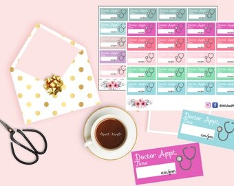 Pastel Appointment Reminder Planner Stickers, Doctor Appointment Sticker, Time Planner Stickers, Planner Accessories, Cute Kawaii Sticker