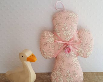 Pretty cross Medal and Liberty Capel pink Nude.