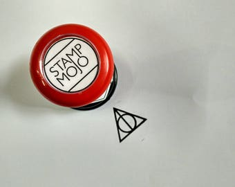 Deathly Hallows - Harry Potter Rubber Stamp for Hand