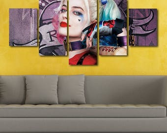 Harley quinn poster etsy for Harley quinn bedroom designs