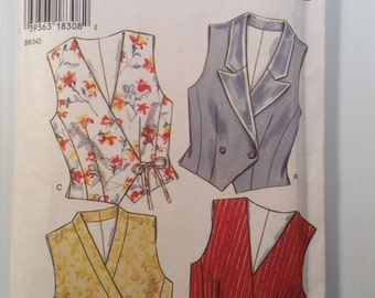 New Look Vest Pattern # 6439 Size A 6-16 Uncut