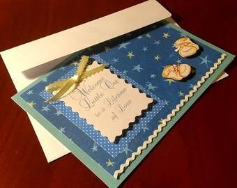 """Handmade """"Welcome Baby"""" Card"""