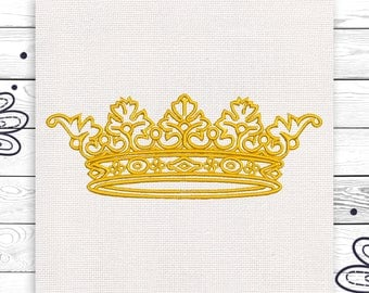 Crown embroidery Girly embroidery design Tumblr 4 sizes INSTANT DOWNLOAD EE5048