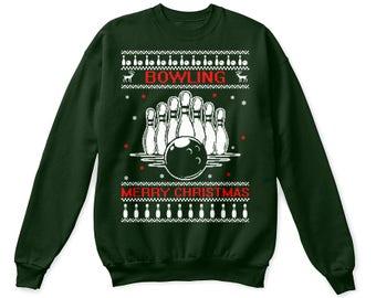 Bowling shirt, bowling gift, bowling christmas shirt, bowling christmas gift, bowling tee, bowling ugly shirt, bowling usweater, bowling tee