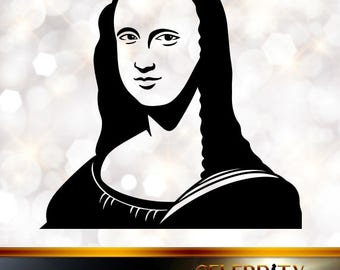 Mona Lisa Silhouette, artist silhouettes, celebrity silhouette, famous people